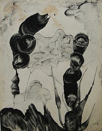 Virgil Grotfeldt, Untitled 2004, Coal dust and acrylic on found paper