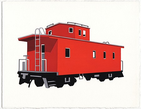 William Steiger, Caboose VI 2010, collage of painted paper