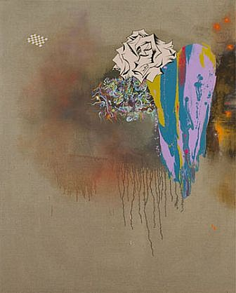 Jackie Tileston, Final Theory / 21 Grams 2011, Oil and mixed media on linen