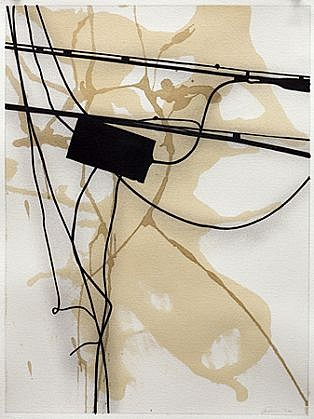 Randy Twaddle, DLD No. 25 2012, Ink and coffee on paper