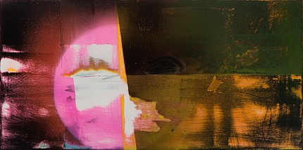 Michelle Mackey, Half Light 2014, Latex enamel, shellac and joint compound on wood panel