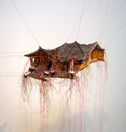 Rebecca Carter, House Body 01 2015, cotton, polyester and rayon threads