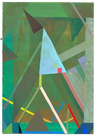 Matt Rich, Blue Flag 2015, Gouache on paper