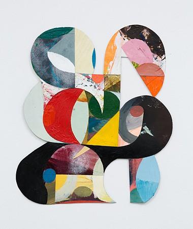 Matt Rich, Crane 2015, Acrylic on cut paper