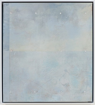 Raphaëlle Goethals, Dust Stories (Grey) 2015, Wax, resin and pigments on birch panel
