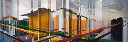 Kim Cadmus Owens, Smoke and Mirrors Series: Usadas Americanos 2014-2015, Oil and acrylic on canvas - diptych