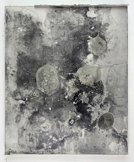 James Buss ,   Untitled cast  ,  2016     plaster, collage, relief ink ,  12 x 10 x 3/4 in.     JBU-015