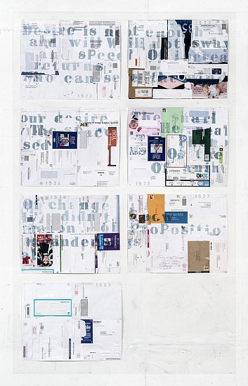 James Drake, Desire is not Enough 2016, ink, pastel on envelopes mounted on archival paper
