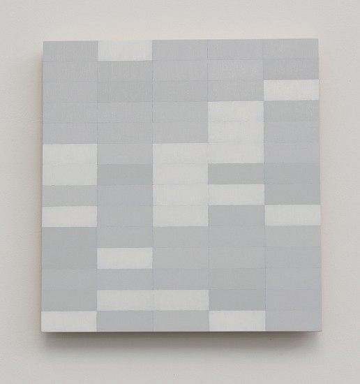 Douglas Leon Cartmel, WHITE NOISE #5 2016, Oil on baltic birch panel