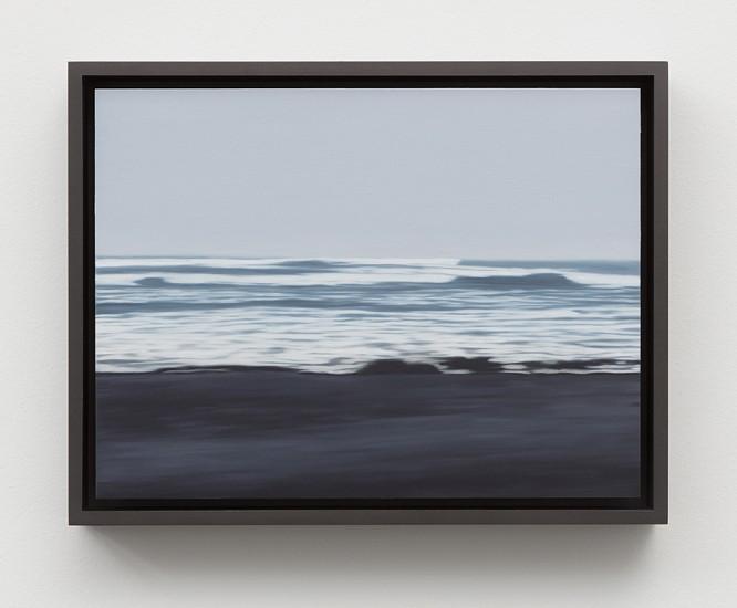 Douglas Leon Cartmel, Oceania- Foggy Beach 2016, Oil on titanium panel