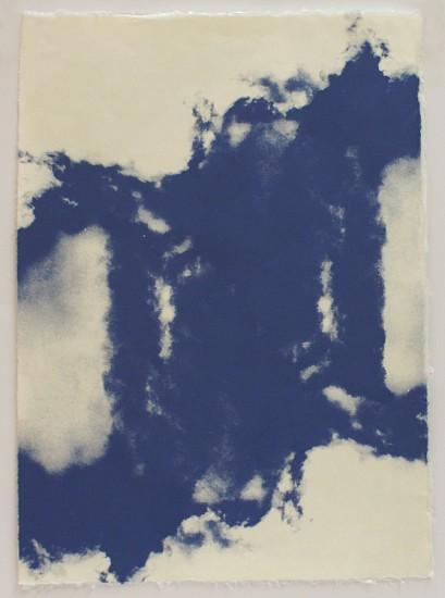 Joan Winter, Cloud Cluster 2017, Screenprint on Okawara hand-made paper/unique