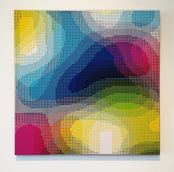 William Betts, January, Color Space Series 2017, Acrylic on canvas
