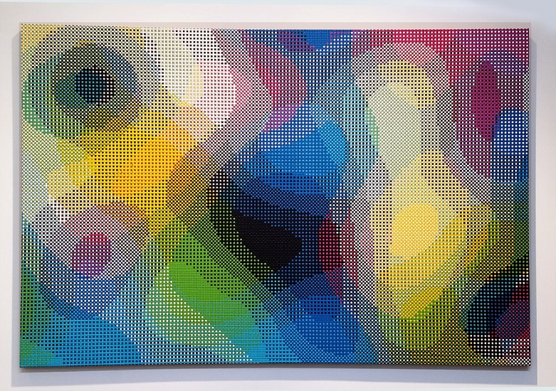 William Betts, Color Space IX 2017, Acrylic on canvas