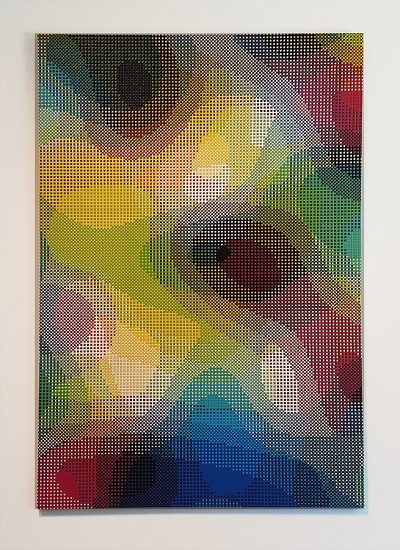 William Betts, Refraction, Color Space Series 2017, Acrylic on canvas