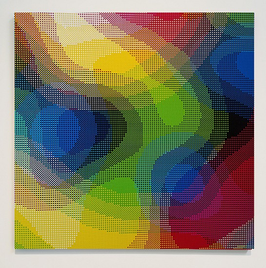 William Betts, Reverb, Color Space Series 2017, Acrylic on canvas