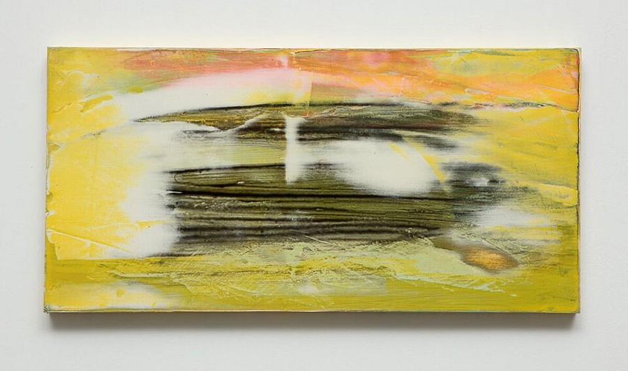 Michelle Mackey, The Clearing 2017, vinyl paint and shellac on wood panel