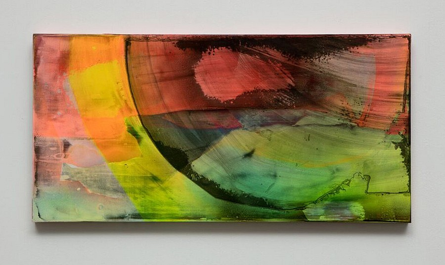 Michelle Mackey, Forever now 2017, vinyl paint and shellac on wood panel