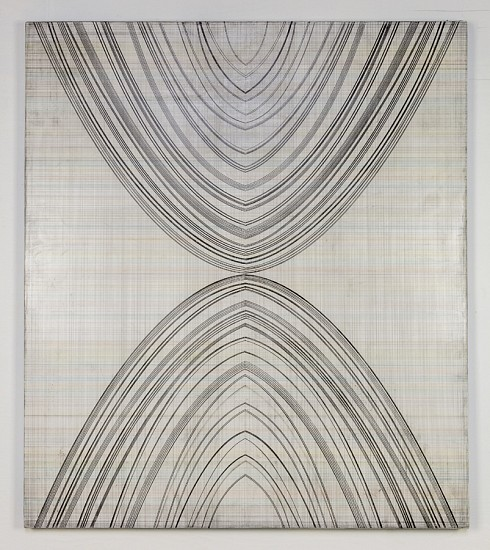 Michael Young, Geometers Condition III 2016-17, Graphite and Acrylic on Panel
