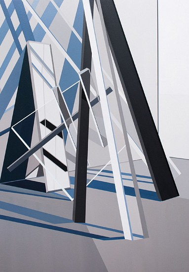 Tommy Fitzpatrick, Balustrade 2017, Acrylic on canvas
