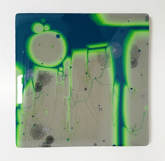 Kim Squaglia, Envy 2018, Oil, acrylic, and resin on panel