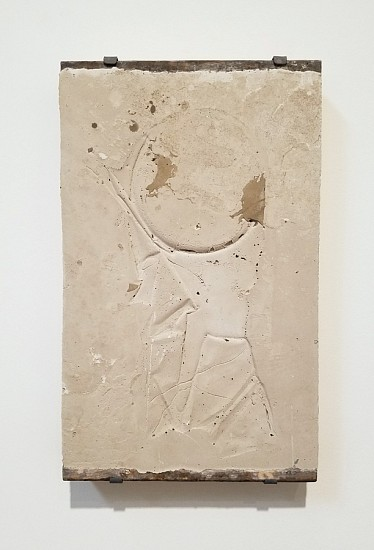 James Buss ,   Untitled cast  ,  2018     Plaster, concrete ,  17 x 11 x 1 in.     JBU-041