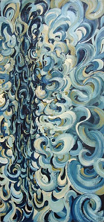 Sydney Yeager, Unfolding Blue 2006, Oil on canvas