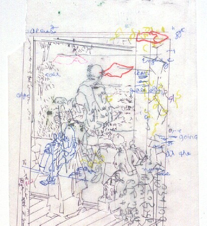 Gael Stack, The Jim Drawings #14 2005, Oil, graphite, ink on vellum